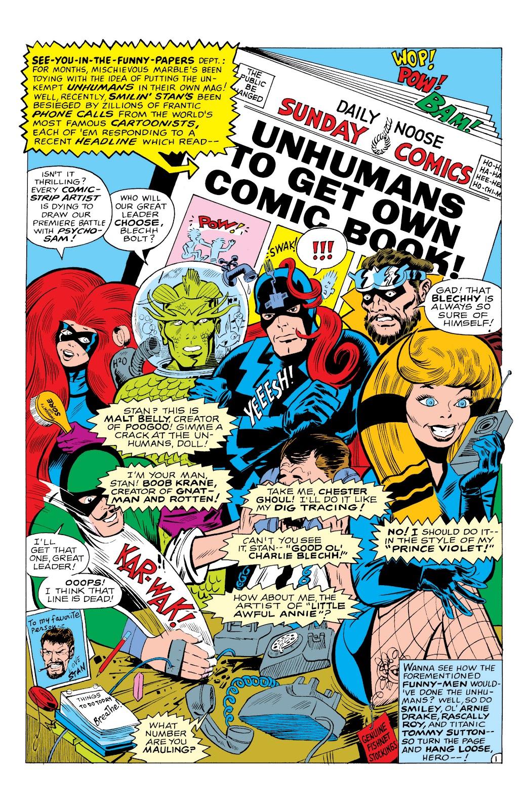 Read online Marvel Masterworks: The Inhumans comic -  Issue # TPB 1 (Part 3) - 26