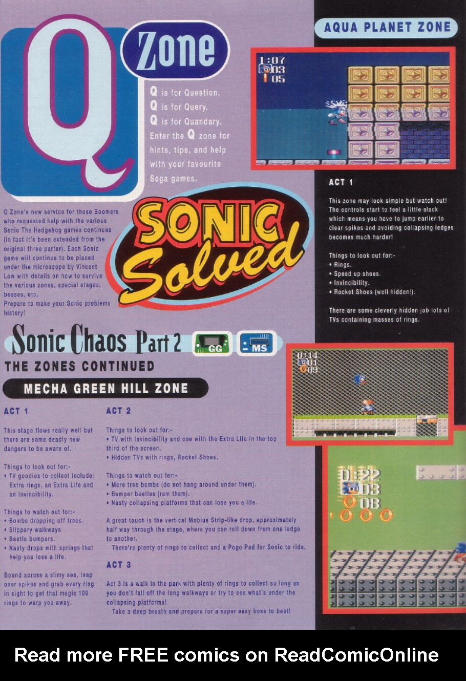Read online Sonic the Comic comic -  Issue #24 - 24