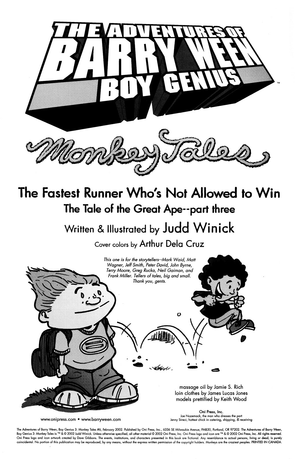 Read online The Adventures of Barry Ween, Boy Genius 3: Monkey Tales comic -  Issue #6 - 2