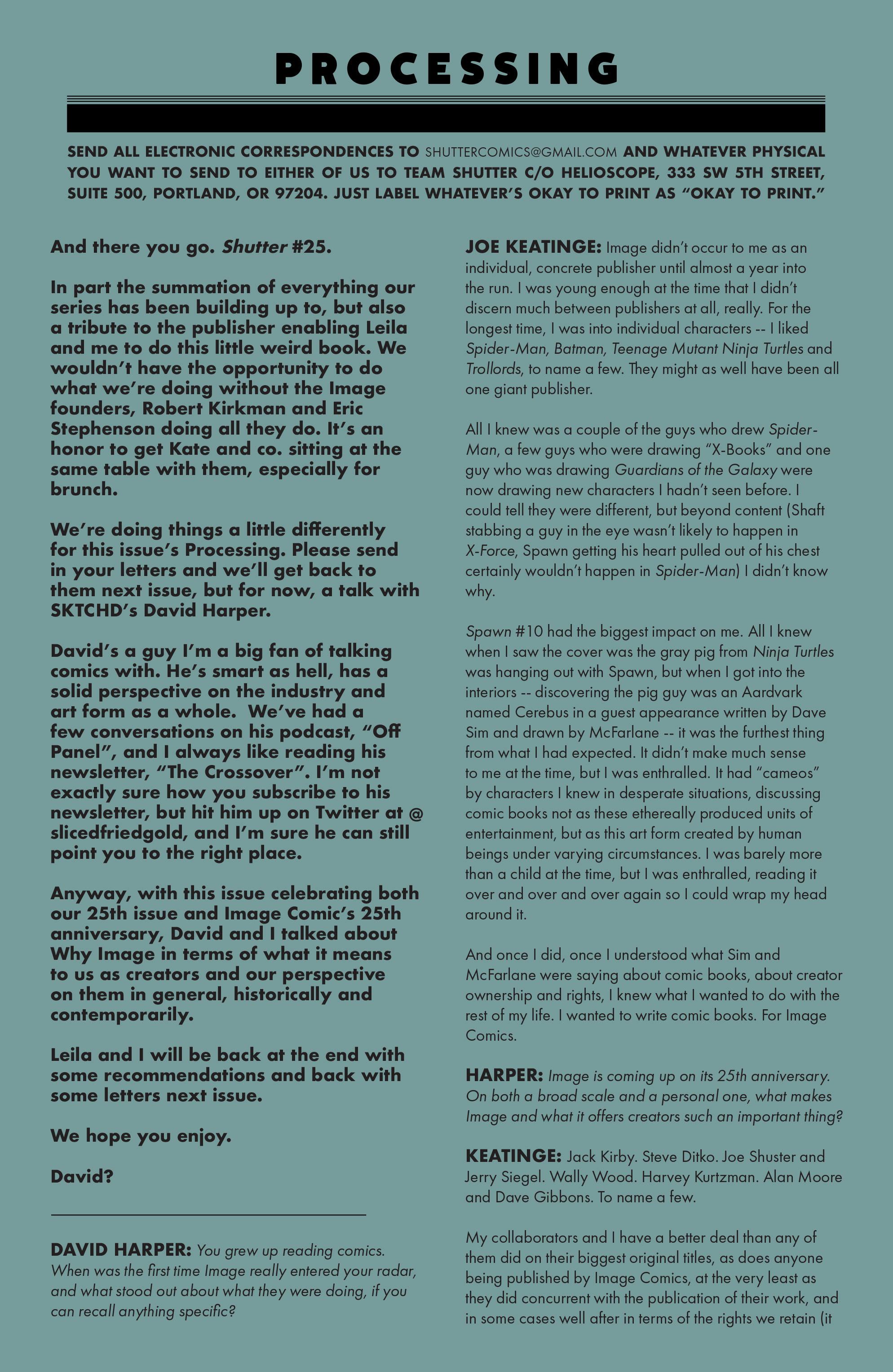 Read online Shutter comic -  Issue #25 - 19