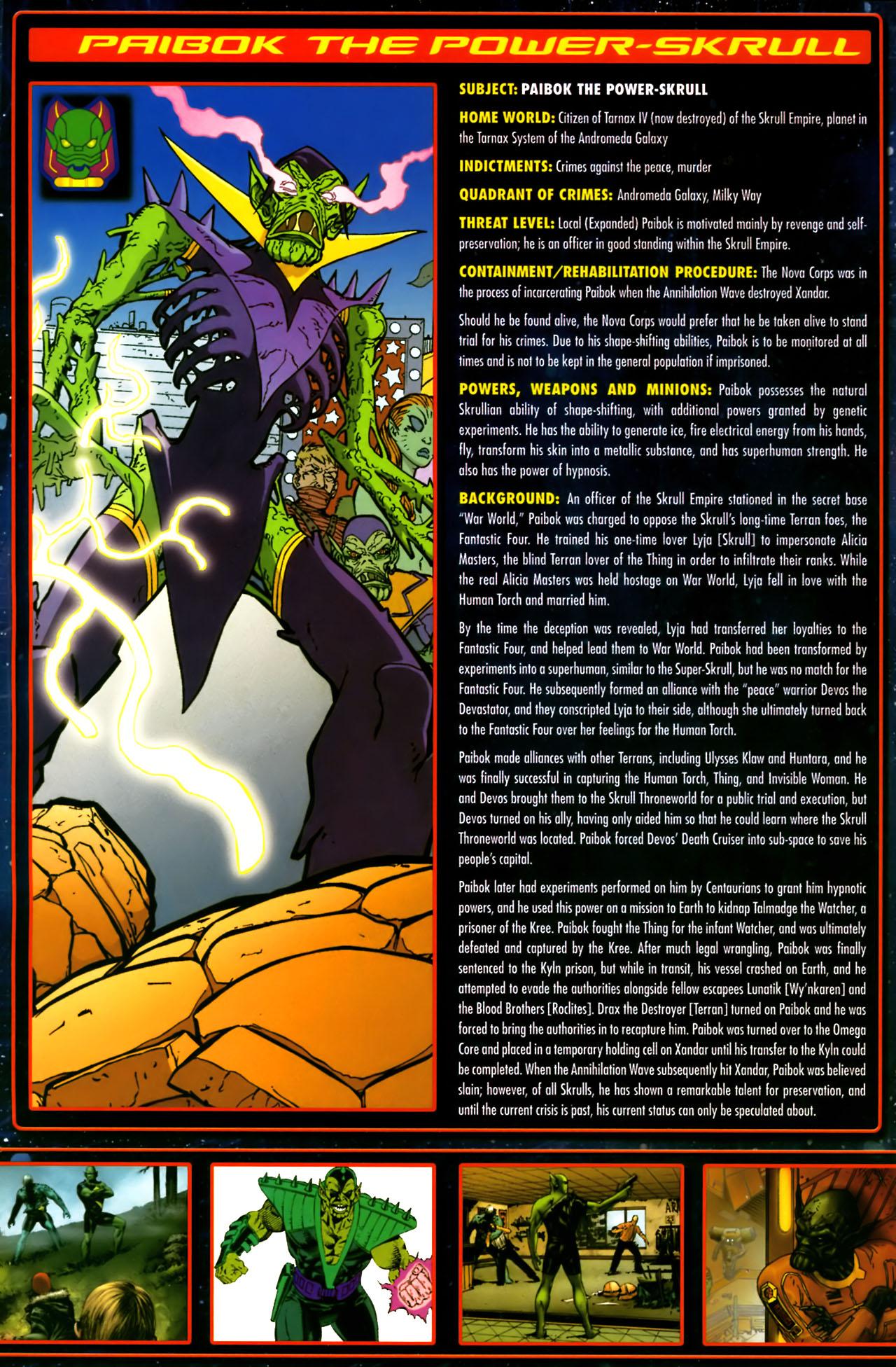 Read online Annihilation:  The  Nova Corps Files comic -  Issue #Annihilation:  The  Nova Corps Files Full - 26