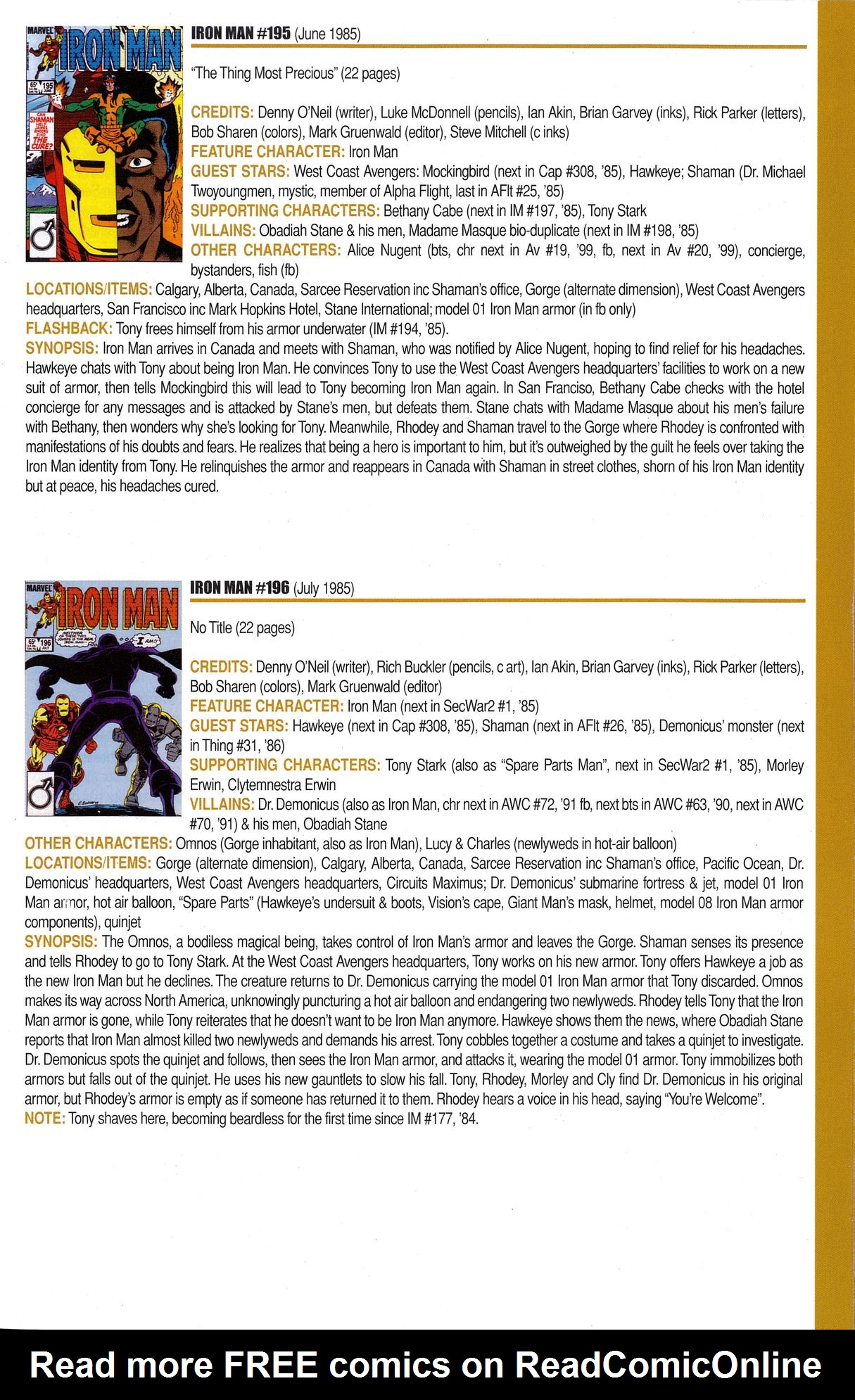 Read online Official Index to the Marvel Universe comic -  Issue #6 - 35