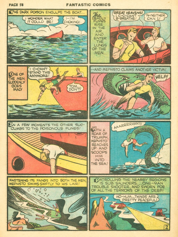 Read online Fantastic Comics comic -  Issue #12 - 60