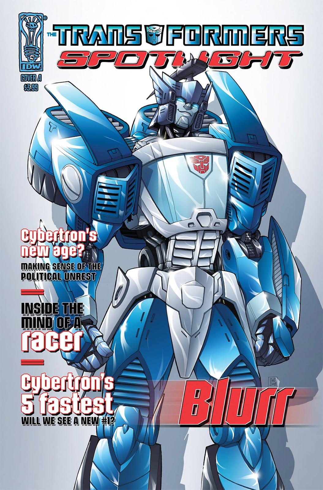 Transformers Spotlight: Blurr issue Full - Page 1
