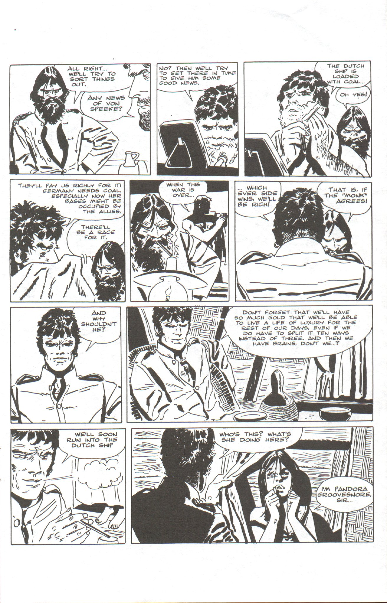 Read online Corto Maltese: Ballad of the Salt Sea comic -  Issue #1 - 9