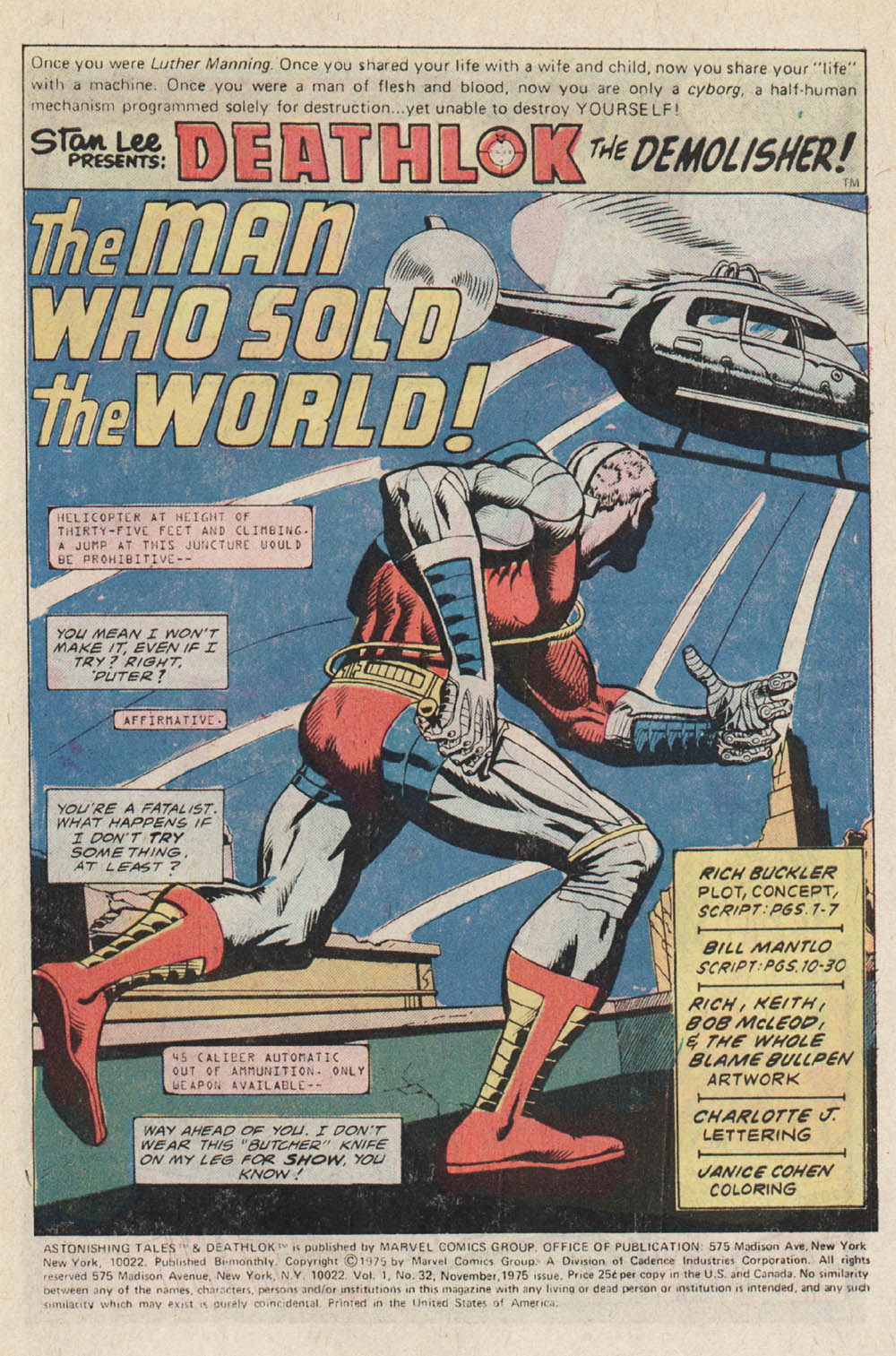 Read online Astonishing Tales (1970) comic -  Issue #32 - 2