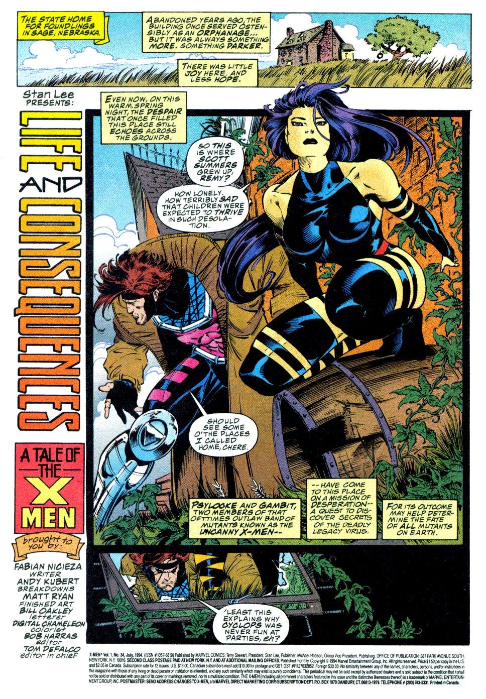 X-Men (1991) 34 Page 1