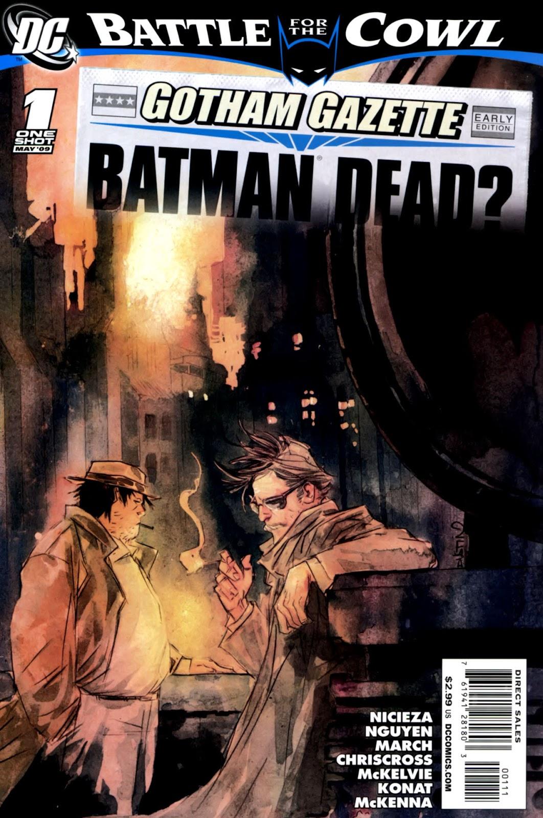 Gotham Gazette issue Issue Batman Dead - Page 1