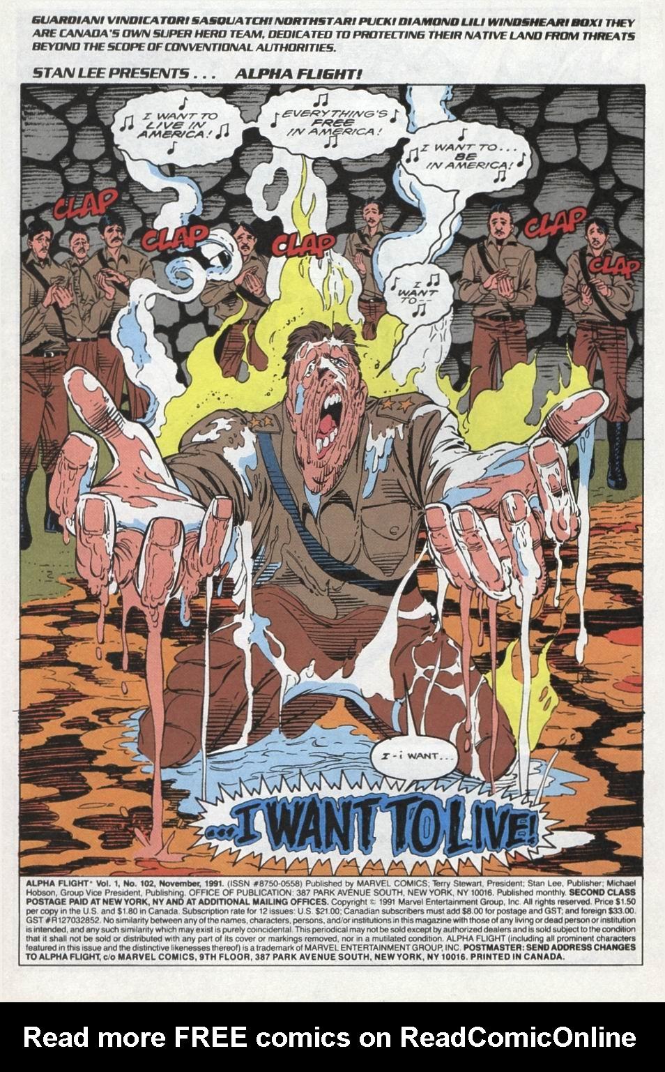 Read online Alpha Flight (1983) comic -  Issue #102 - 2