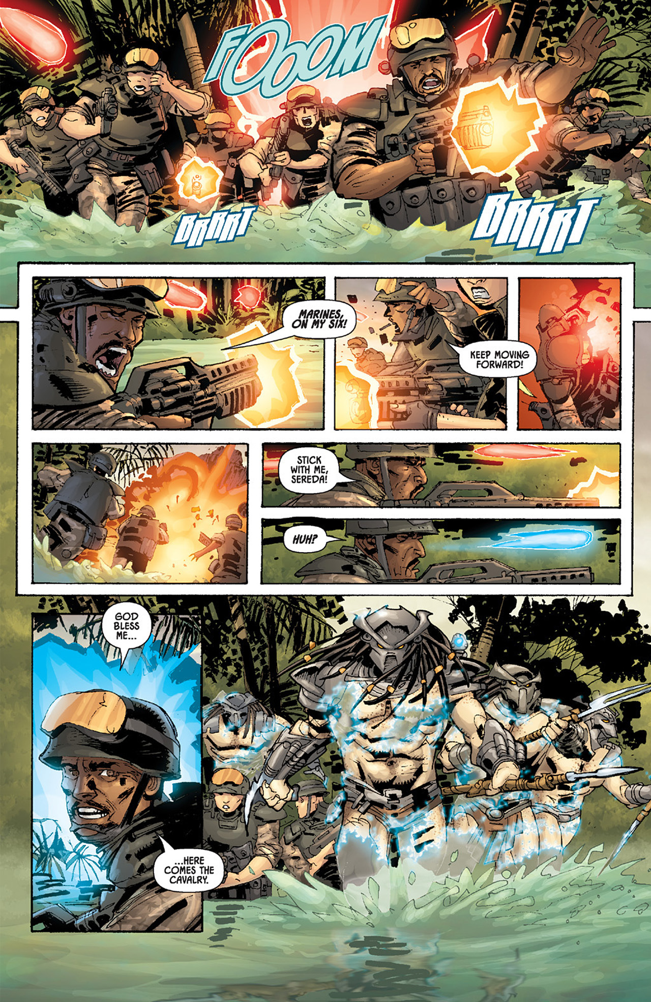Read online Aliens vs. Predator: Three World War comic -  Issue #5 - 19