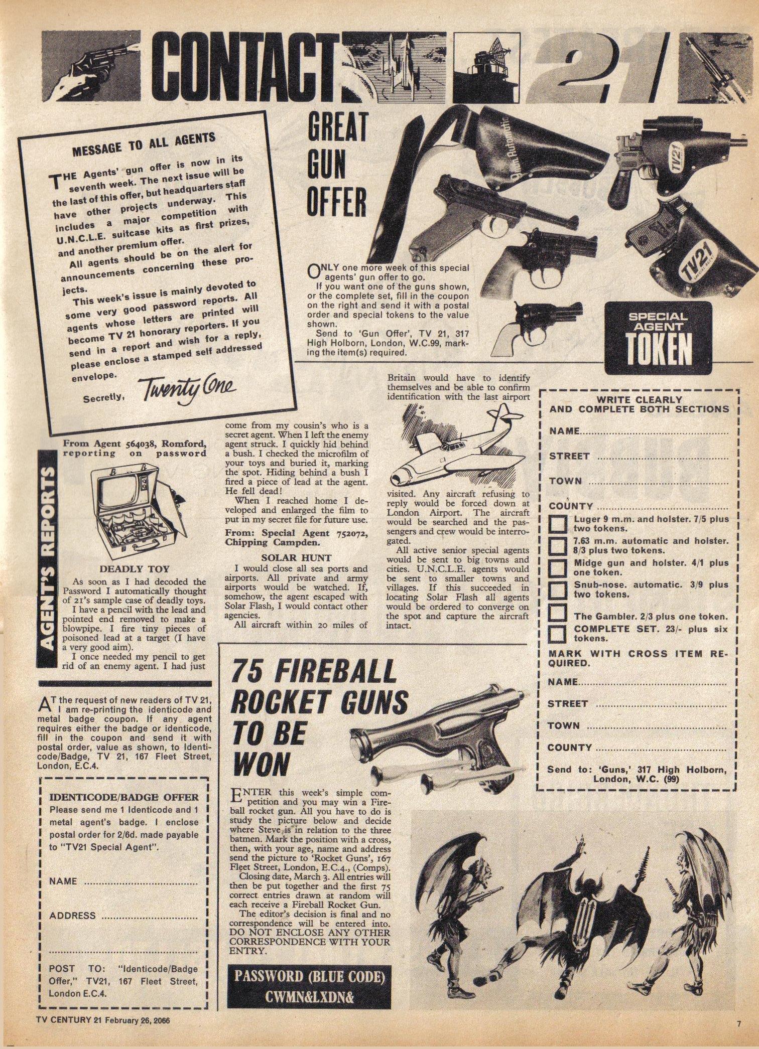 Read online TV Century 21 (TV 21) comic -  Issue #58 - 7