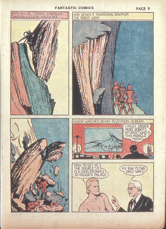 Read online Fantastic Comics comic -  Issue #4 - 11