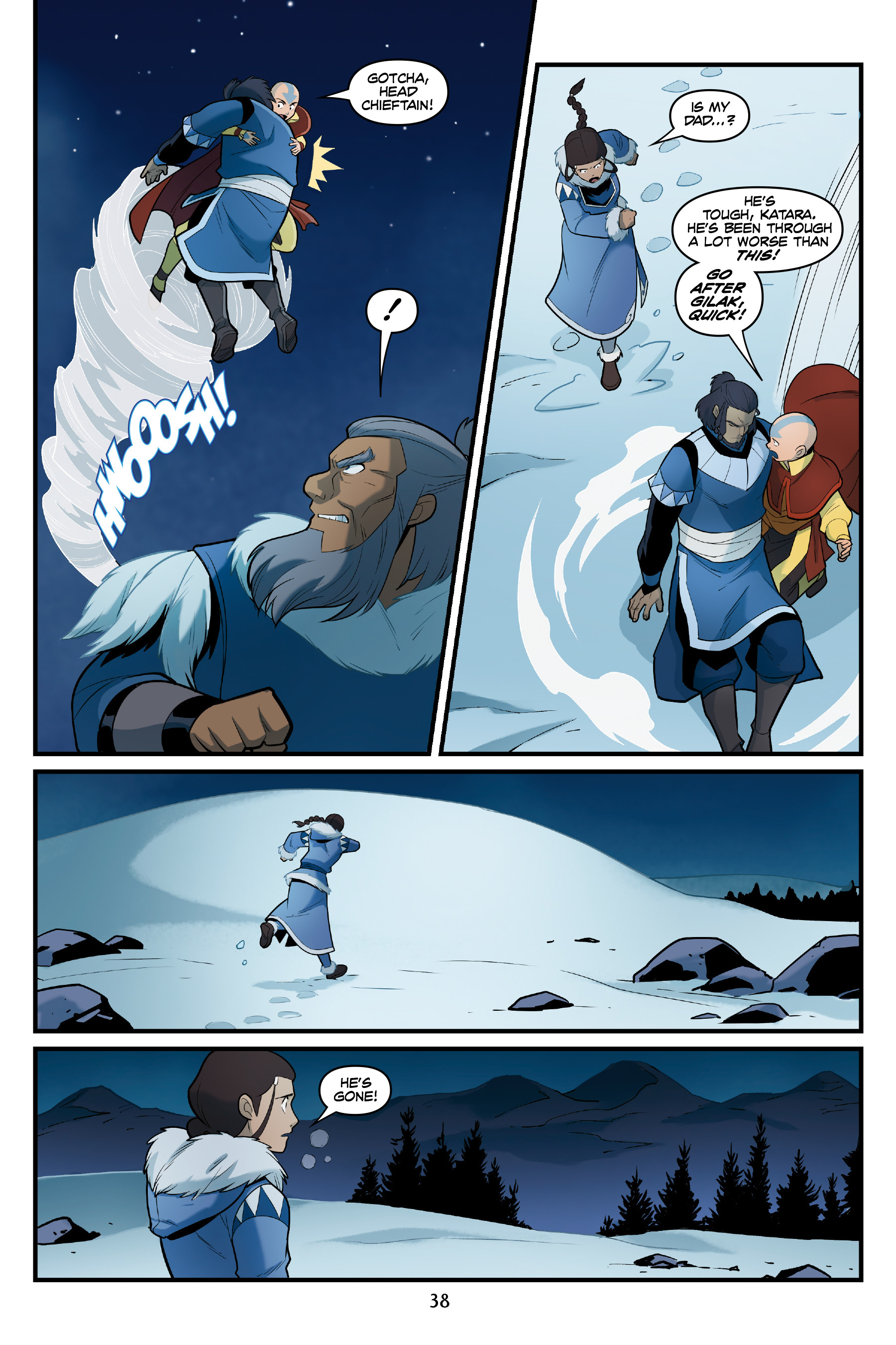 Read online Nickelodeon Avatar: The Last Airbender - North and South comic -  Issue #3 - 38