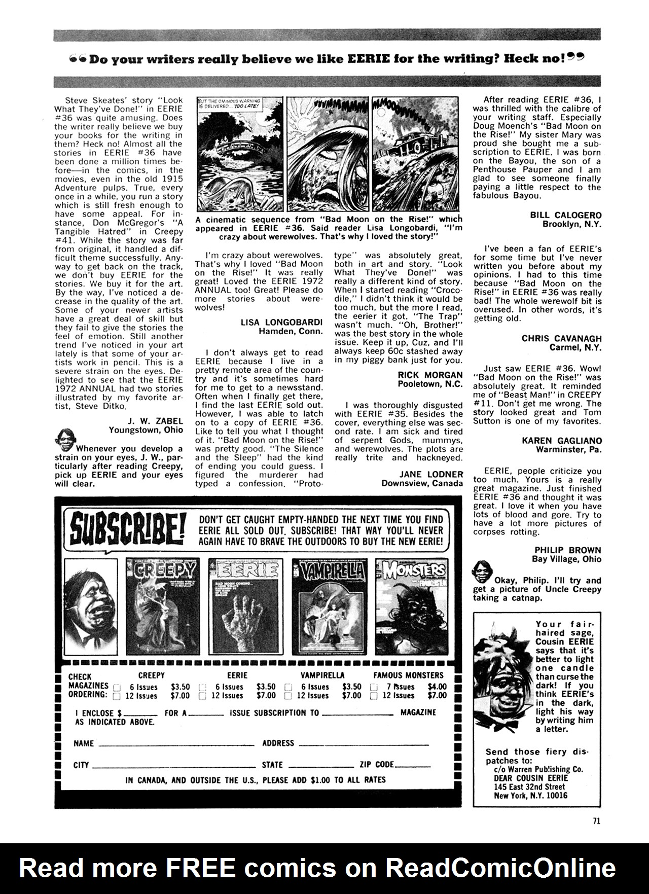 Read online Eerie Archives comic -  Issue # TPB 8 - 72