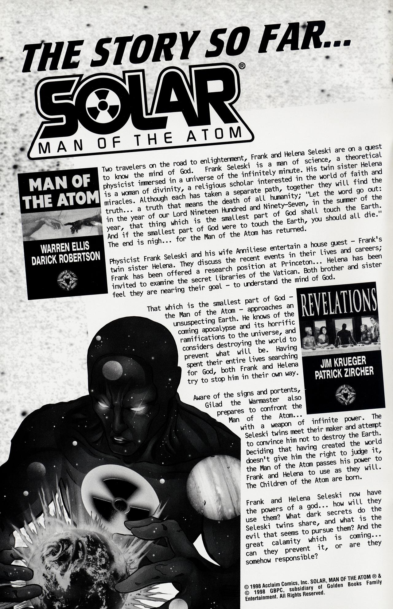 Read online Solar, Man of the Atom: Hell on Earth comic -  Issue #1 - 2