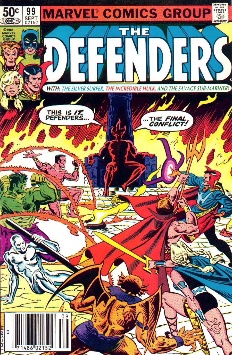 The Defenders (1972) issue 99 - Page 1