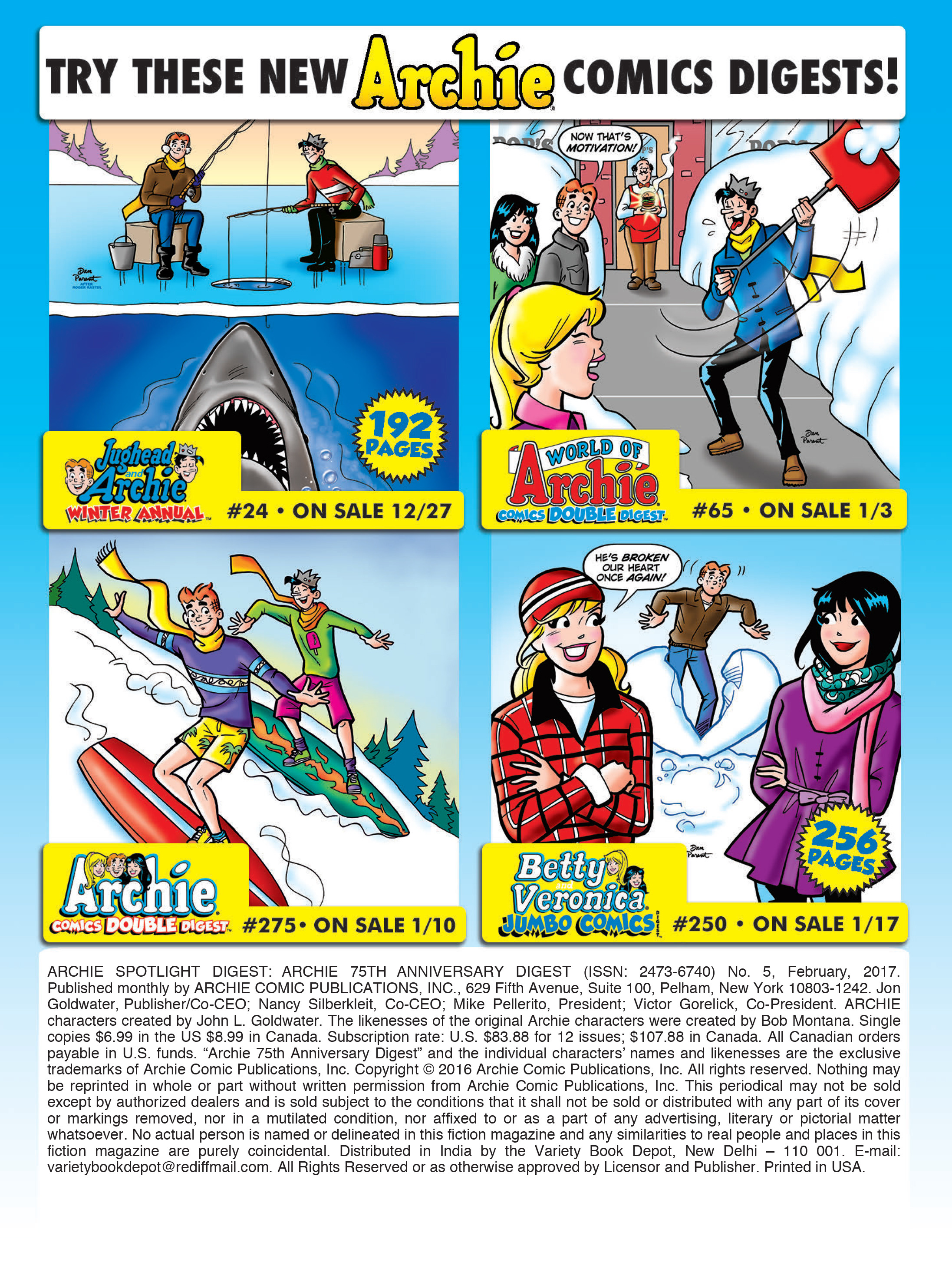 Read online Archie 75th Anniversary Digest comic -  Issue #5 - 217