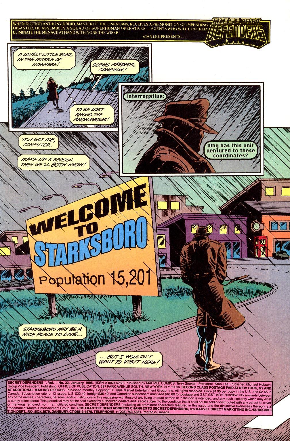 Read online Secret Defenders comic -  Issue #23 - 2