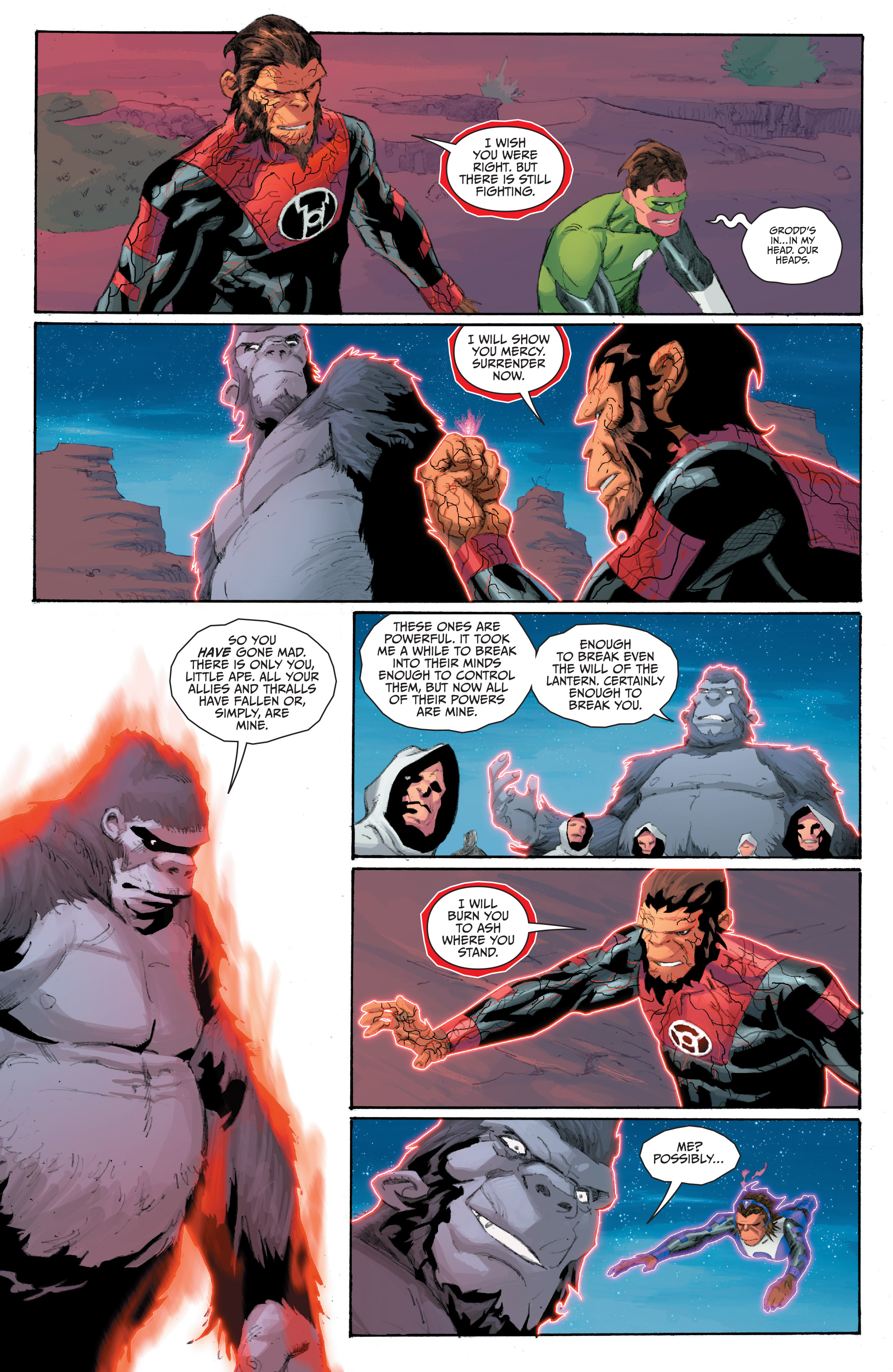 Read online Planet of the Apes/Green Lantern comic -  Issue #5 - 17