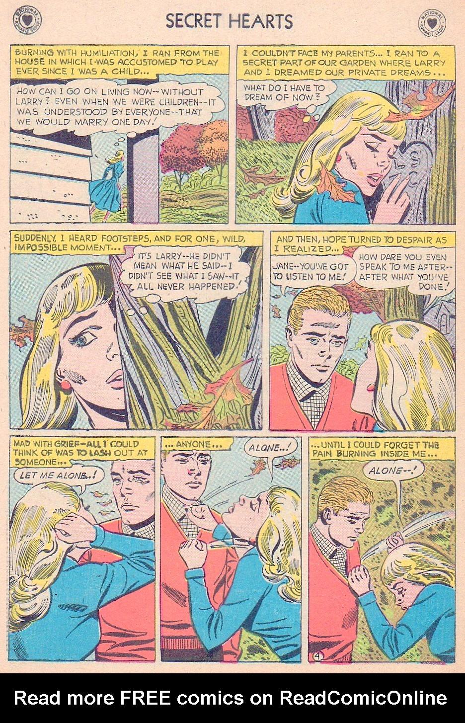 Read online Secret Hearts comic -  Issue #44 - 30
