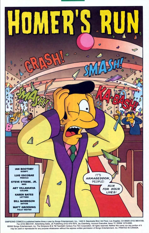 Read online Simpsons Comics comic -  Issue #72 - 2