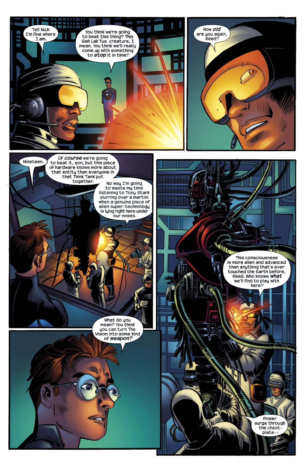 Read online Ultimate Vision comic -  Issue #0 - 4