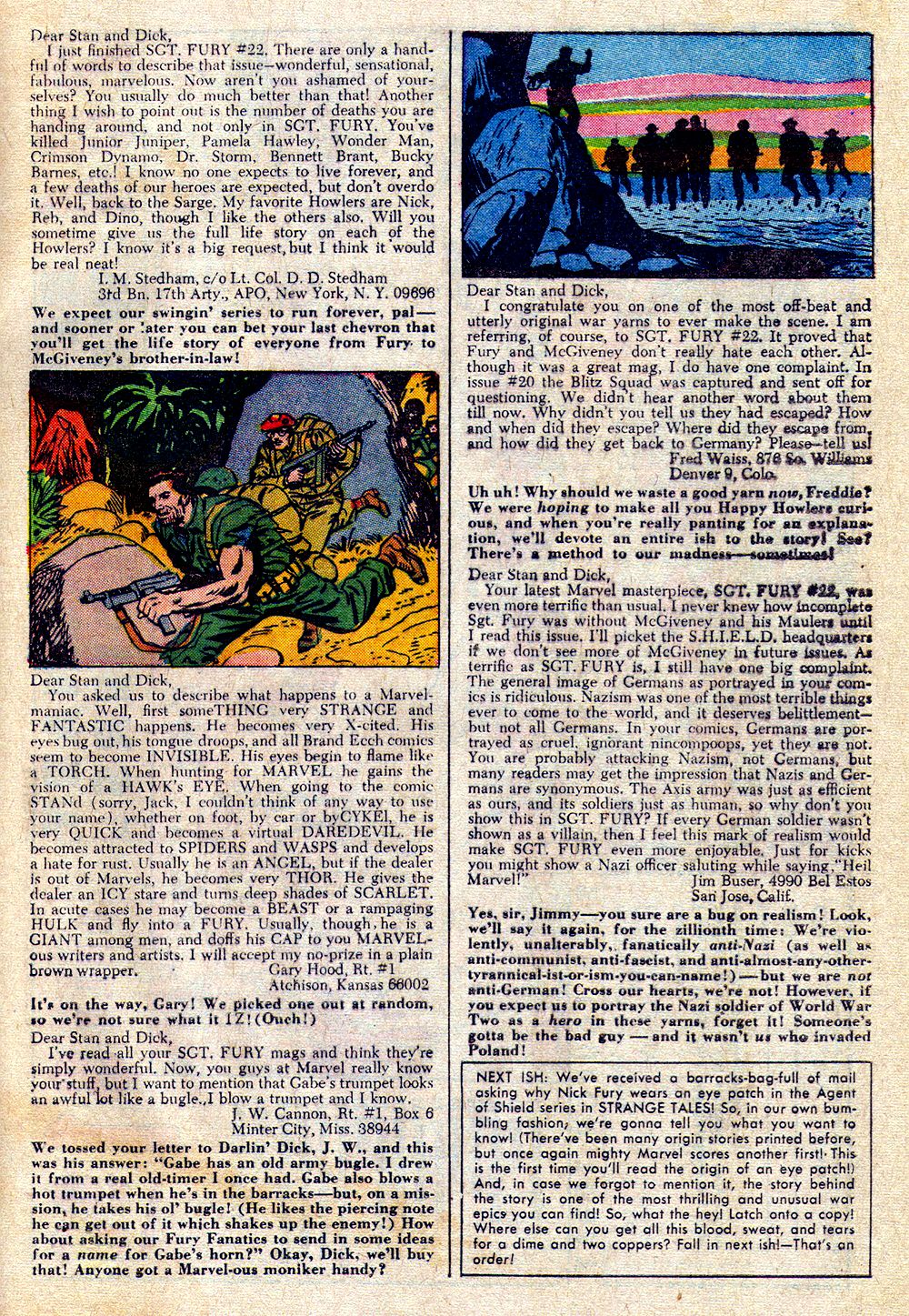 Read online Sgt. Fury comic -  Issue #26 - 33