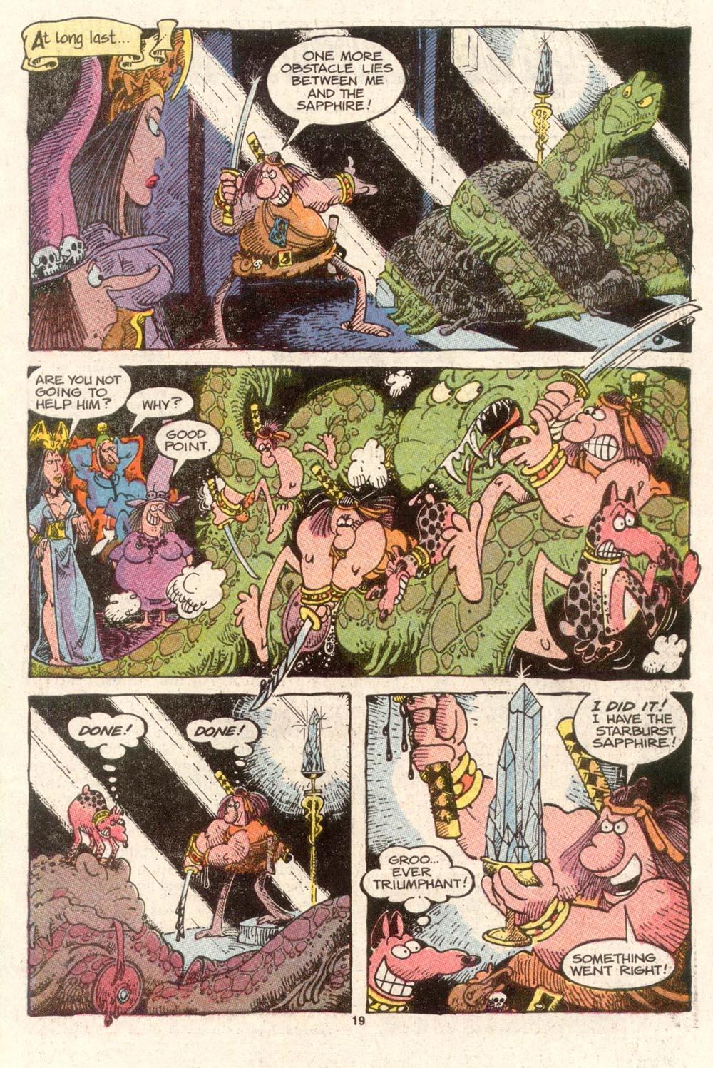 Read online Sergio Aragonés Groo the Wanderer comic -  Issue #47 - 19