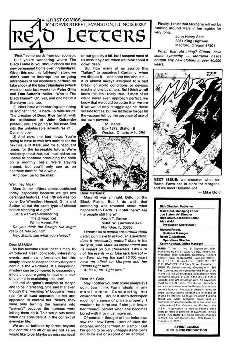 Read online Mars comic -  Issue #9 - 2