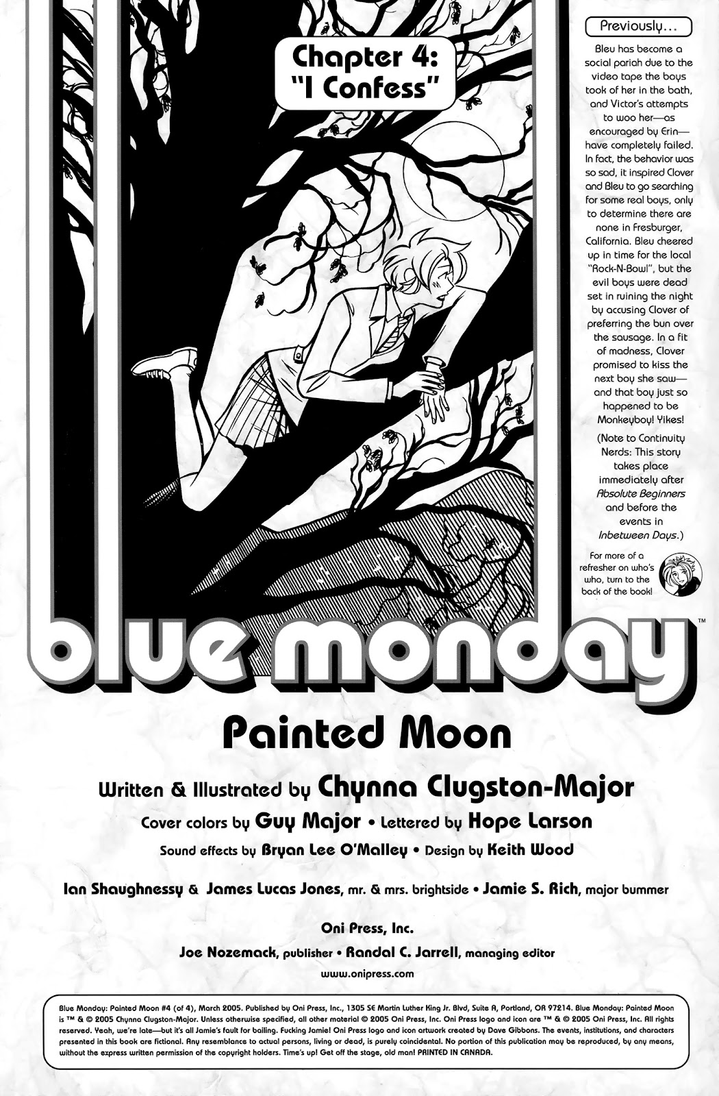 Read online Blue Monday: Painted Moon comic -  Issue #4 - 2