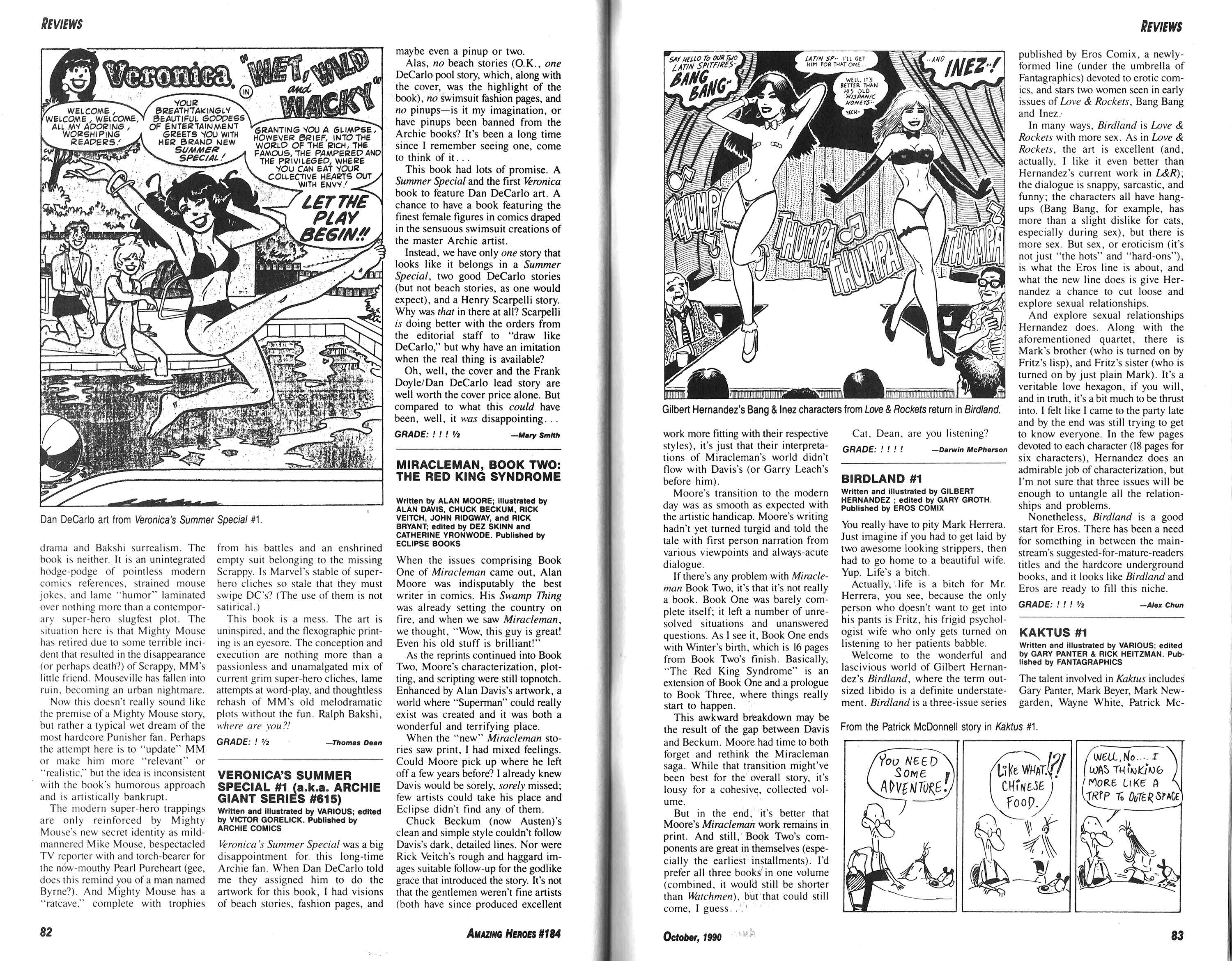 Read online Amazing Heroes comic -  Issue #184 - 58