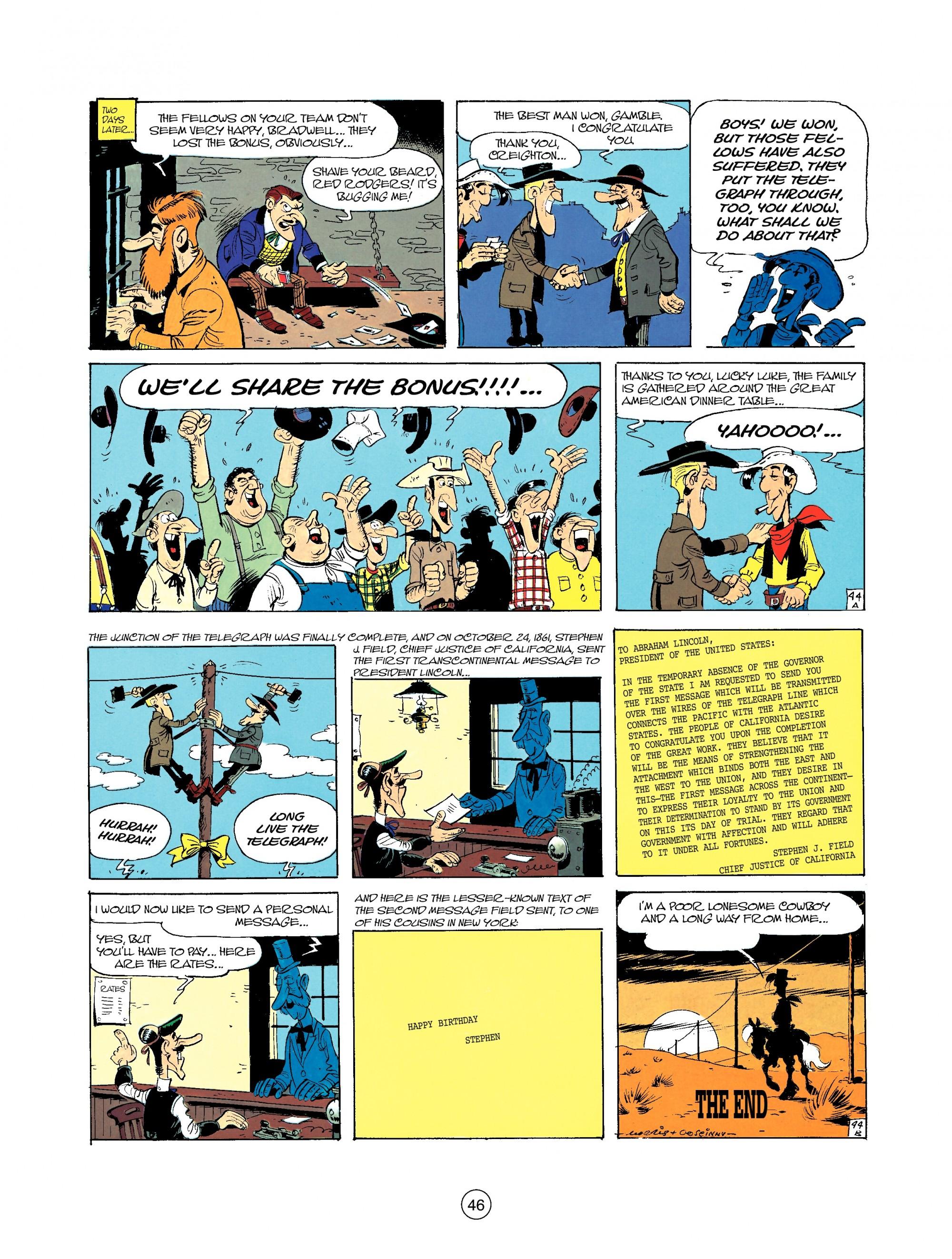 Read online A Lucky Luke Adventure comic -  Issue #35 - 46