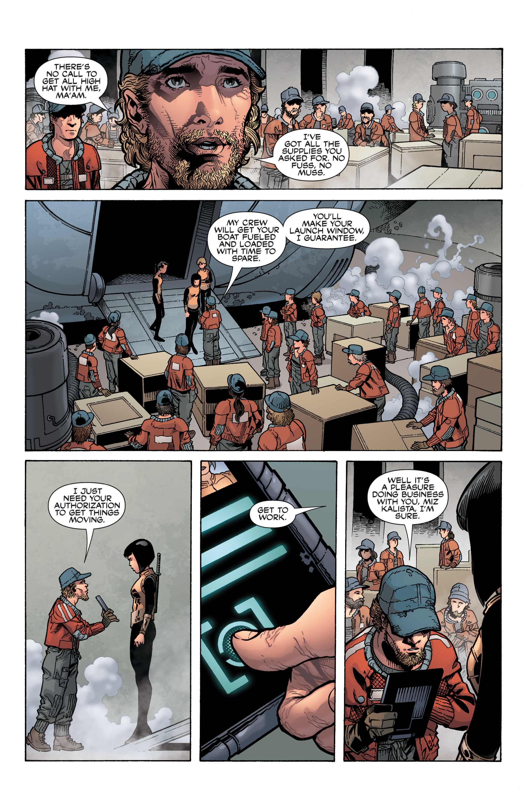 Read online Serenity: Firefly Class 03-K64 – No Power in the 'Verse comic -  Issue #5 - 5