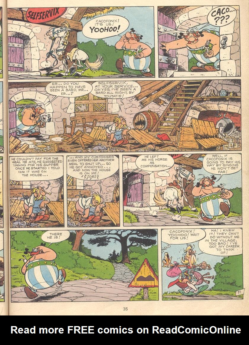 Read online Asterix comic -  Issue #9 - 32