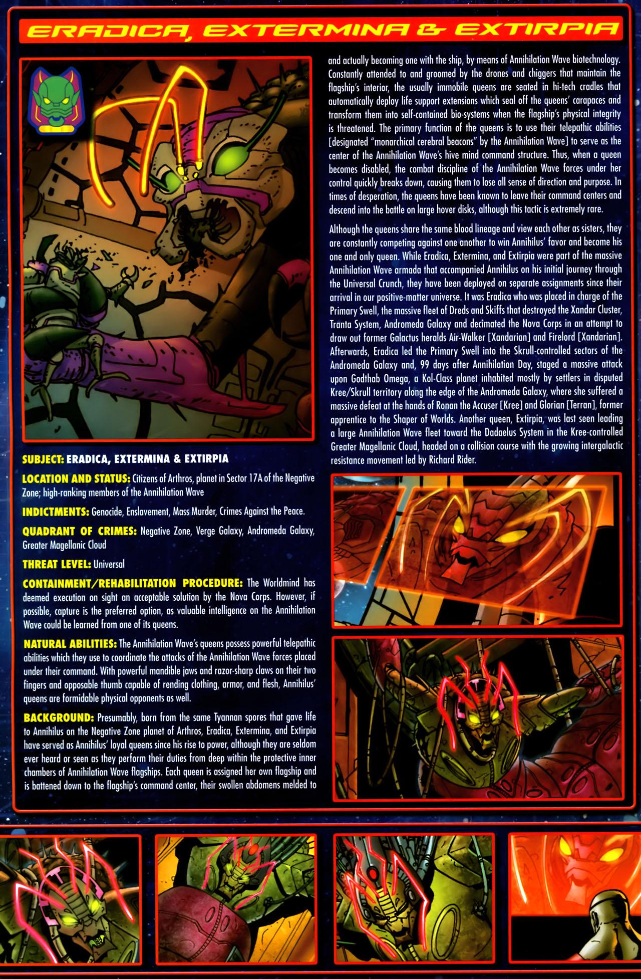 Read online Annihilation:  The  Nova Corps Files comic -  Issue #Annihilation:  The  Nova Corps Files Full - 12