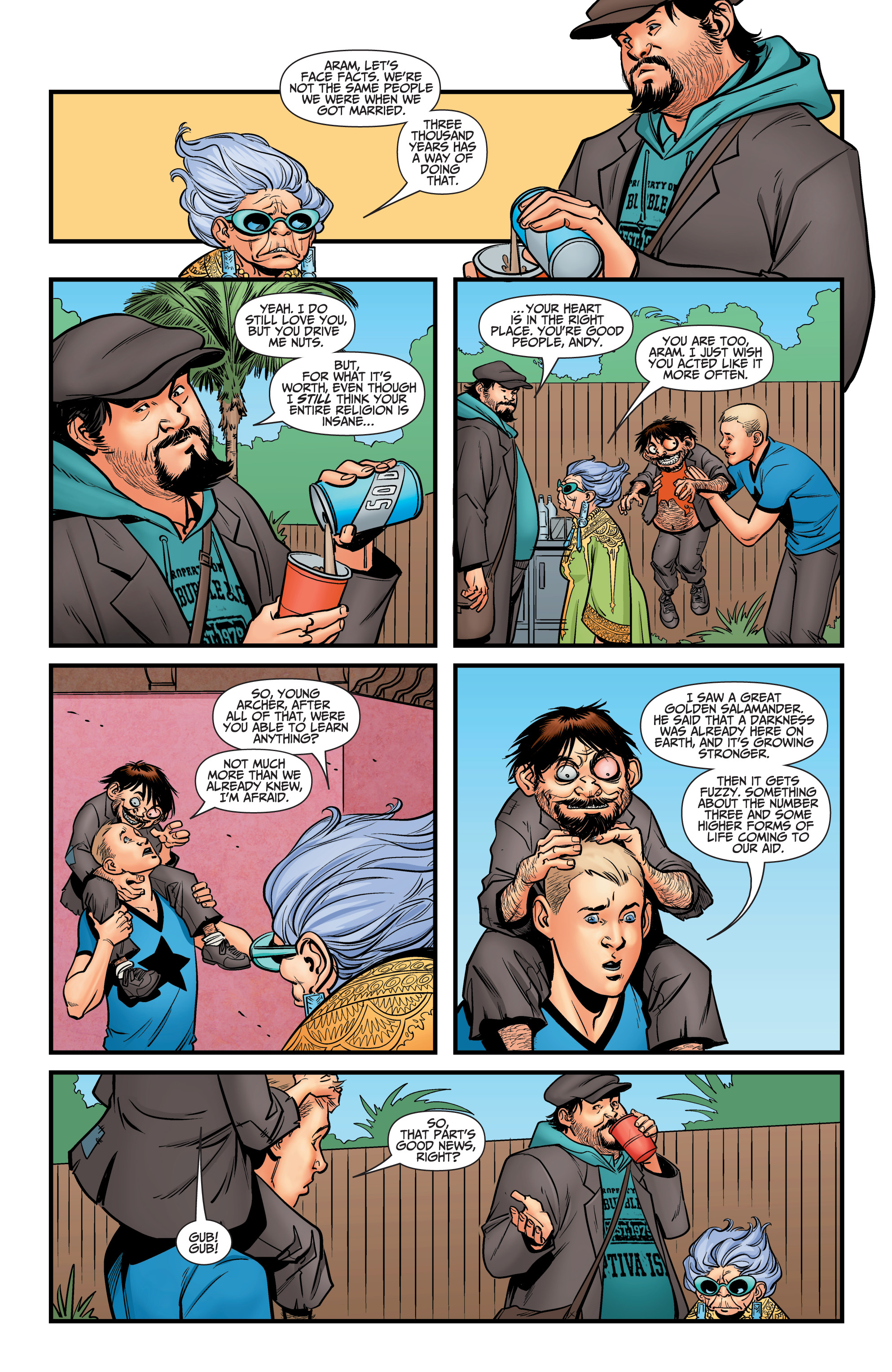 Read online A&A: The Adventures of Archer & Armstrong comic -  Issue #12 - 19