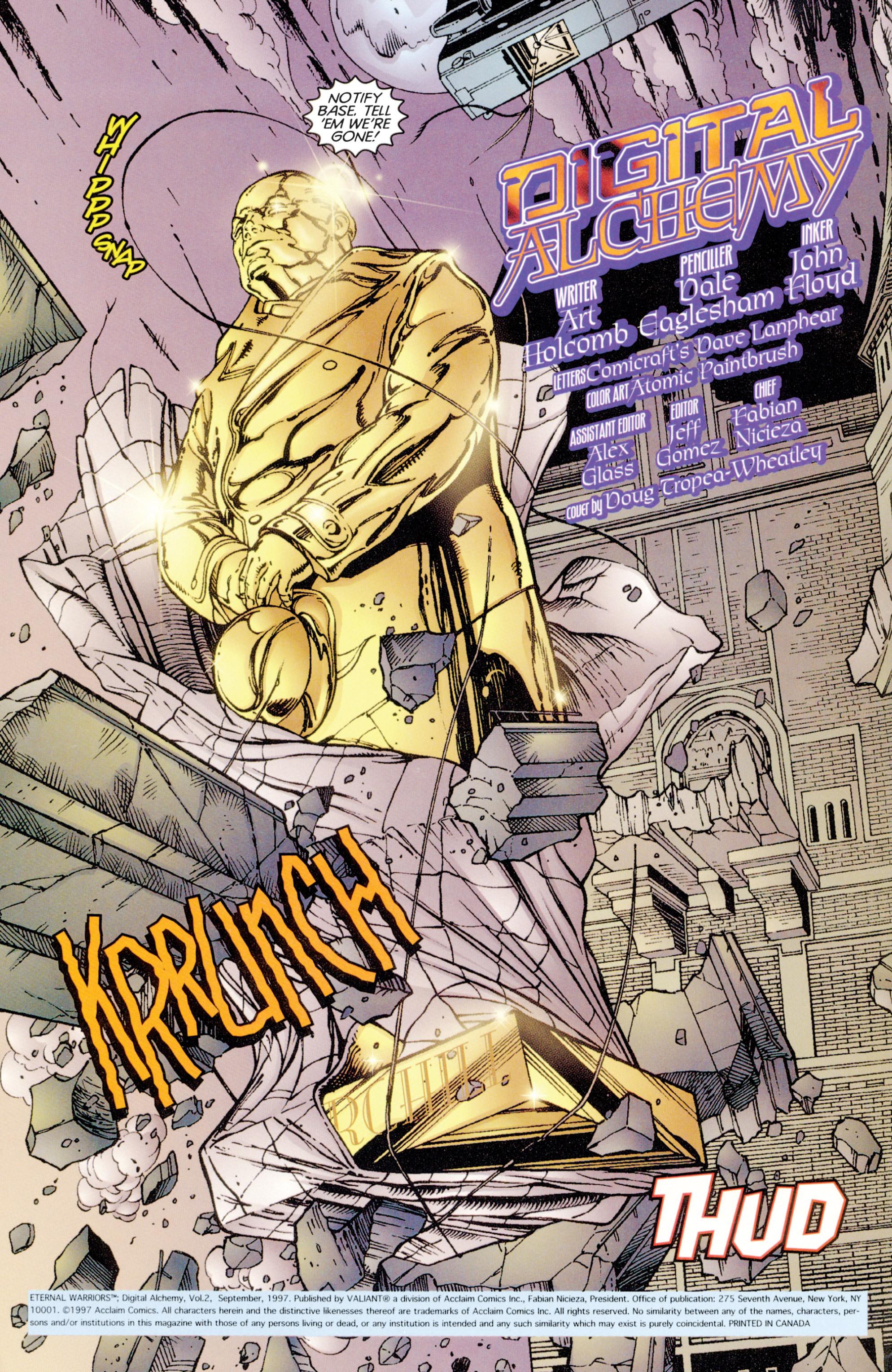 Read online Eternal Warriors comic -  Issue # Issue Digital Alchemy - 3