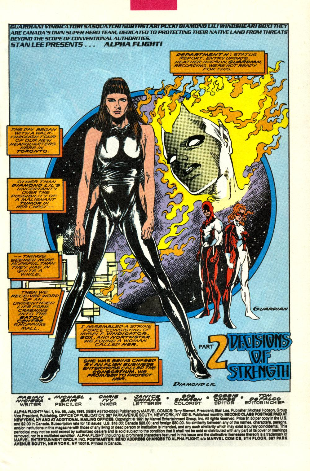 Read online Alpha Flight (1983) comic -  Issue #98 - 2