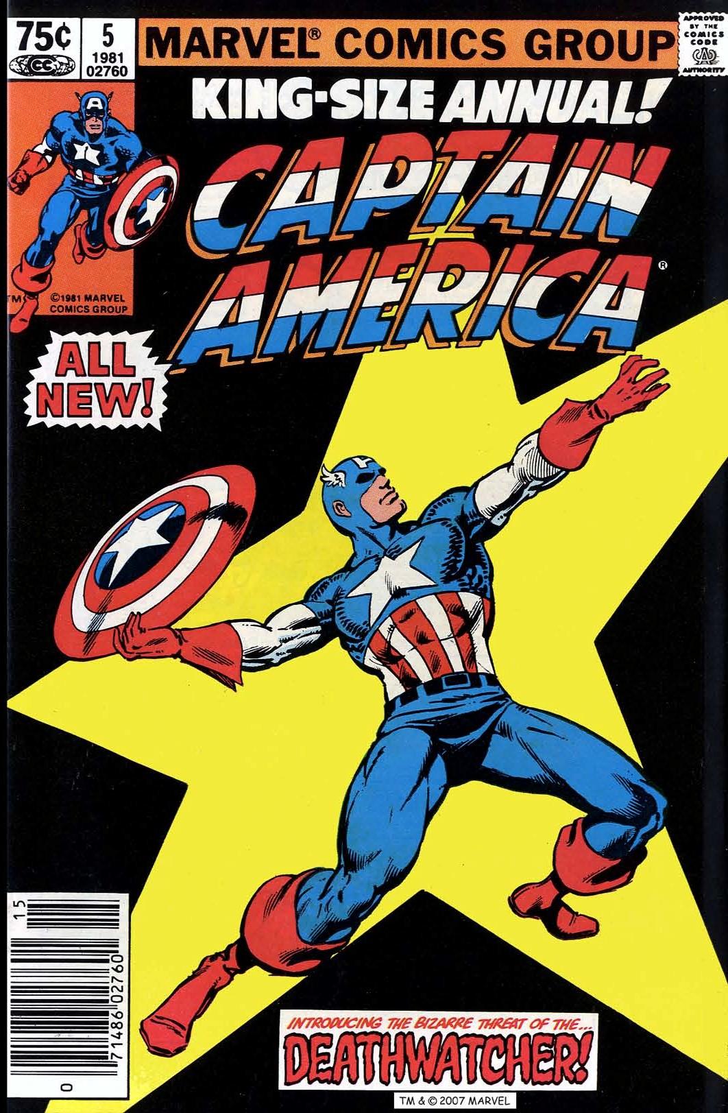 Read online Captain America (1968) comic -  Issue # _Annual 5 - 1