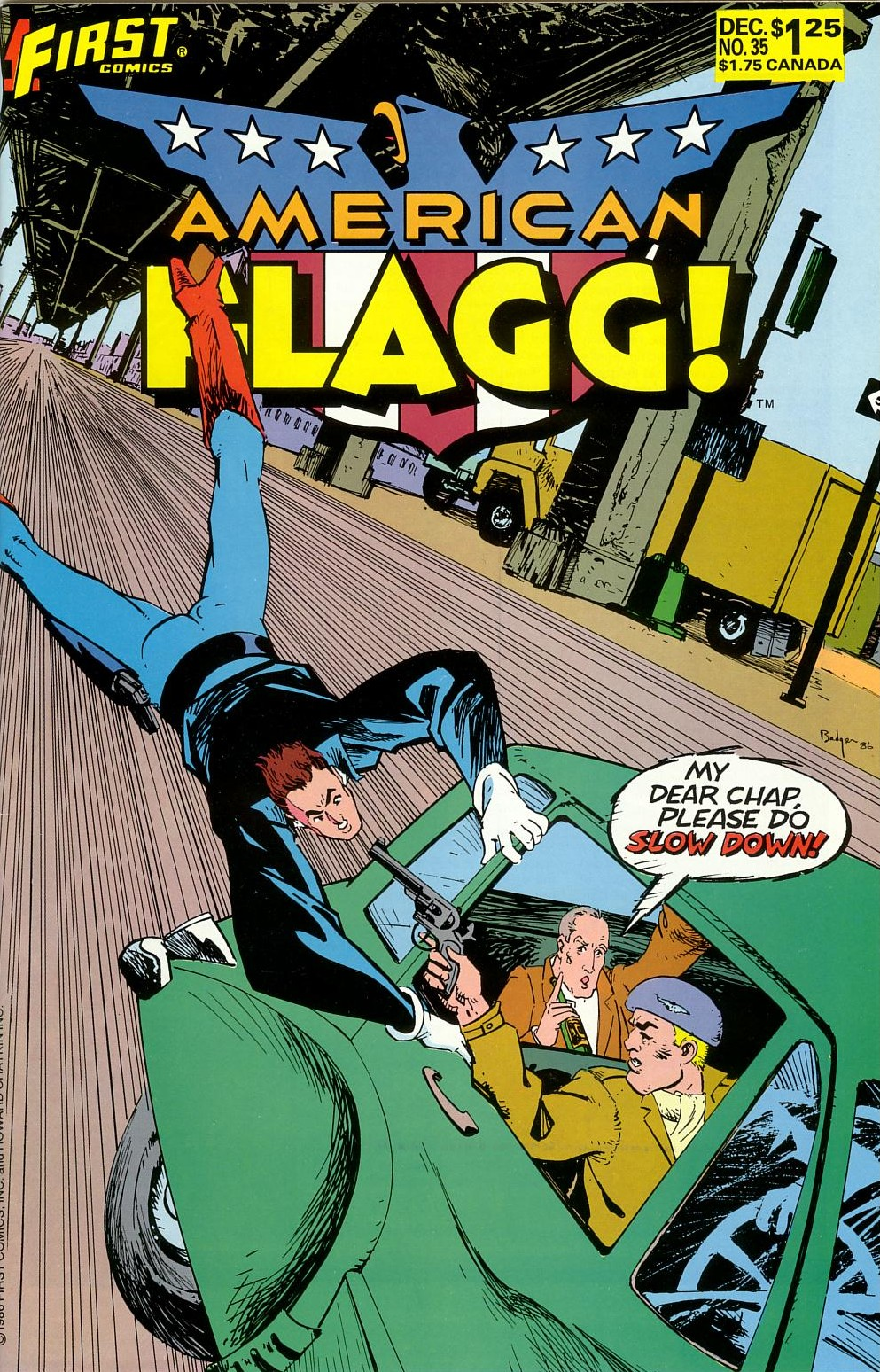 Read online American Flagg! comic -  Issue #35 - 1