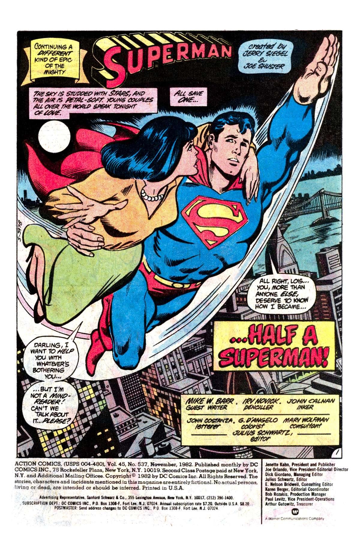 Action Comics (1938) 537 Page 1