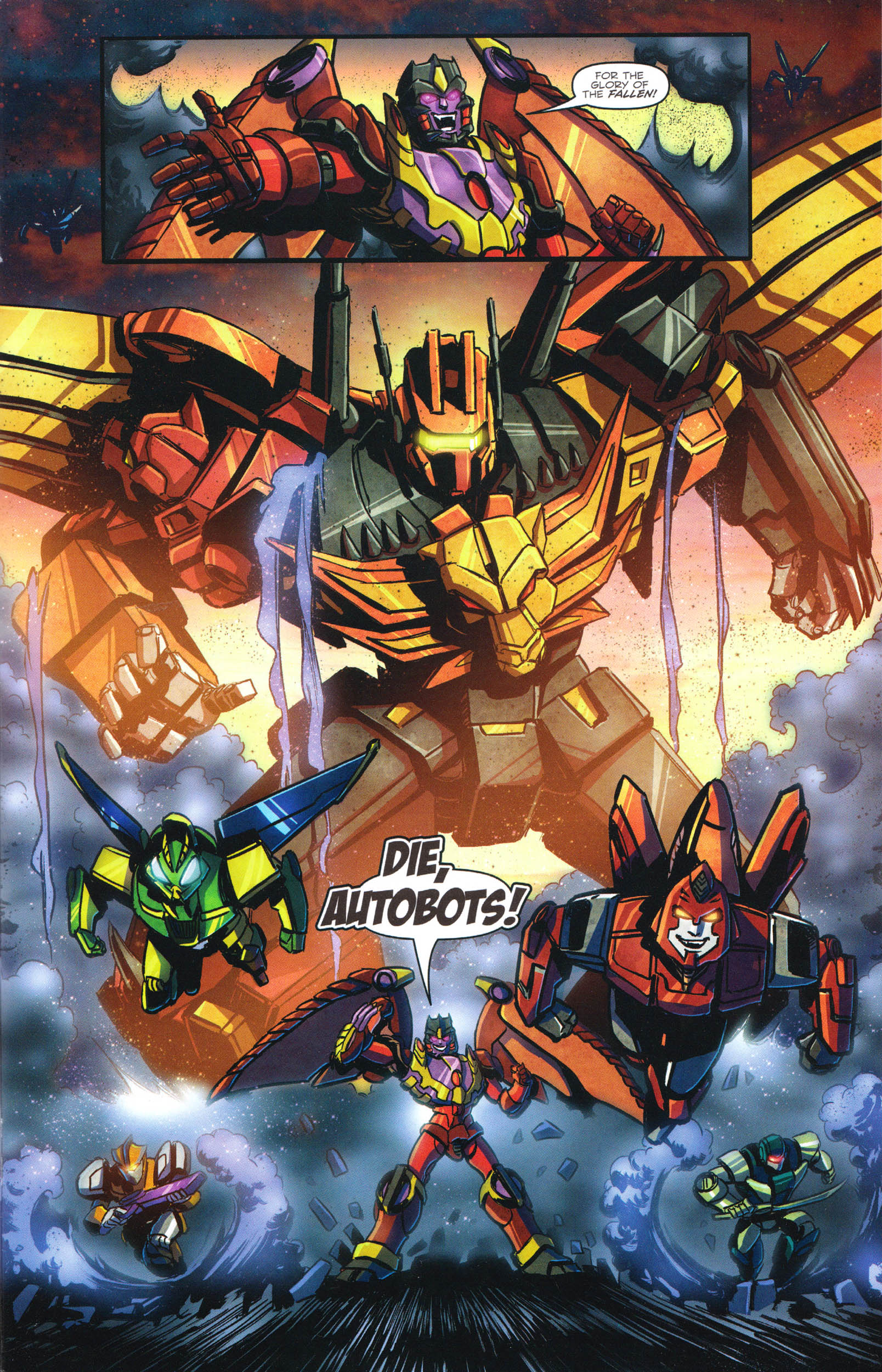 Read online Transformers: Dawn of the Predacus comic -  Issue # Full - 10