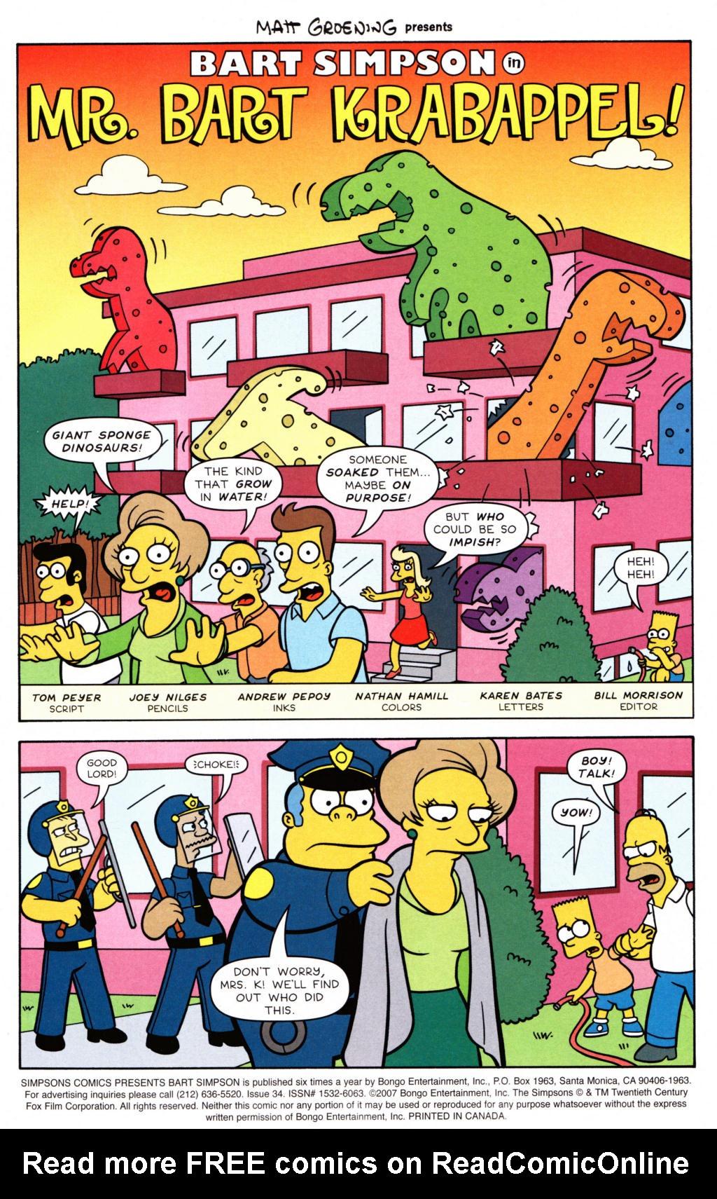 Read online Simpsons Comics Presents Bart Simpson comic -  Issue #34 - 2