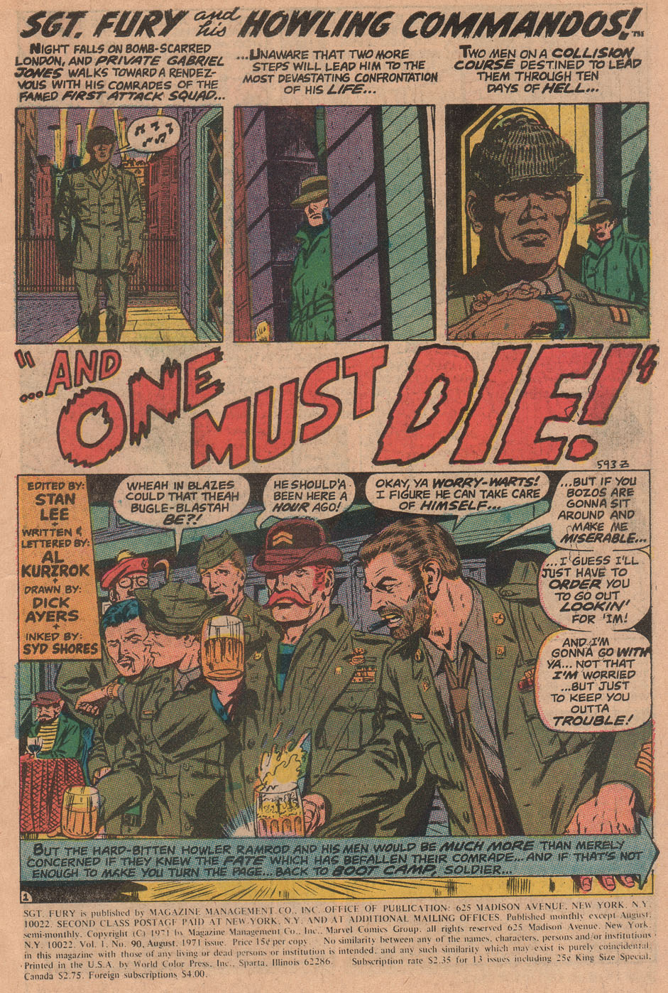 Read online Sgt. Fury comic -  Issue #90 - 3