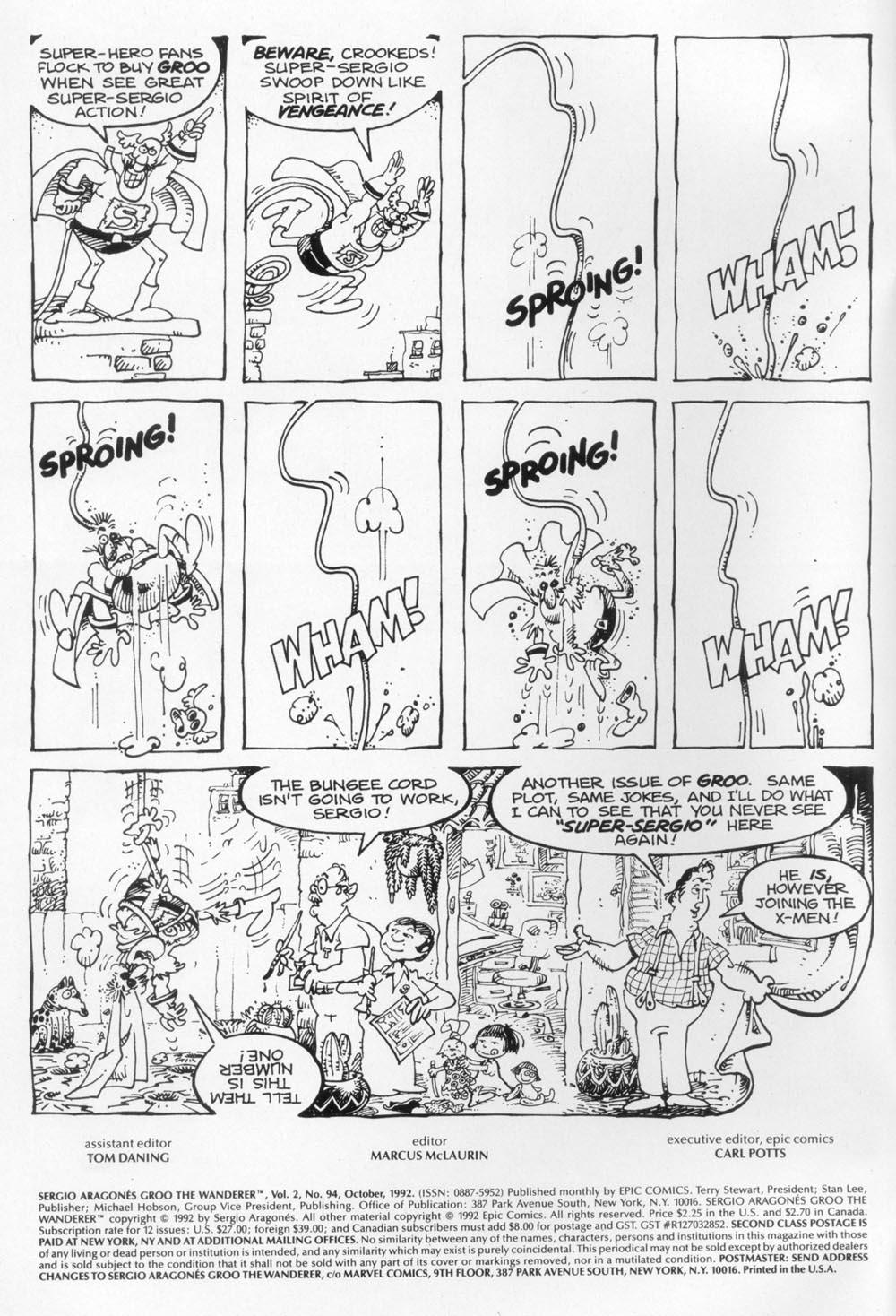 Read online Sergio Aragonés Groo the Wanderer comic -  Issue #94 - 2