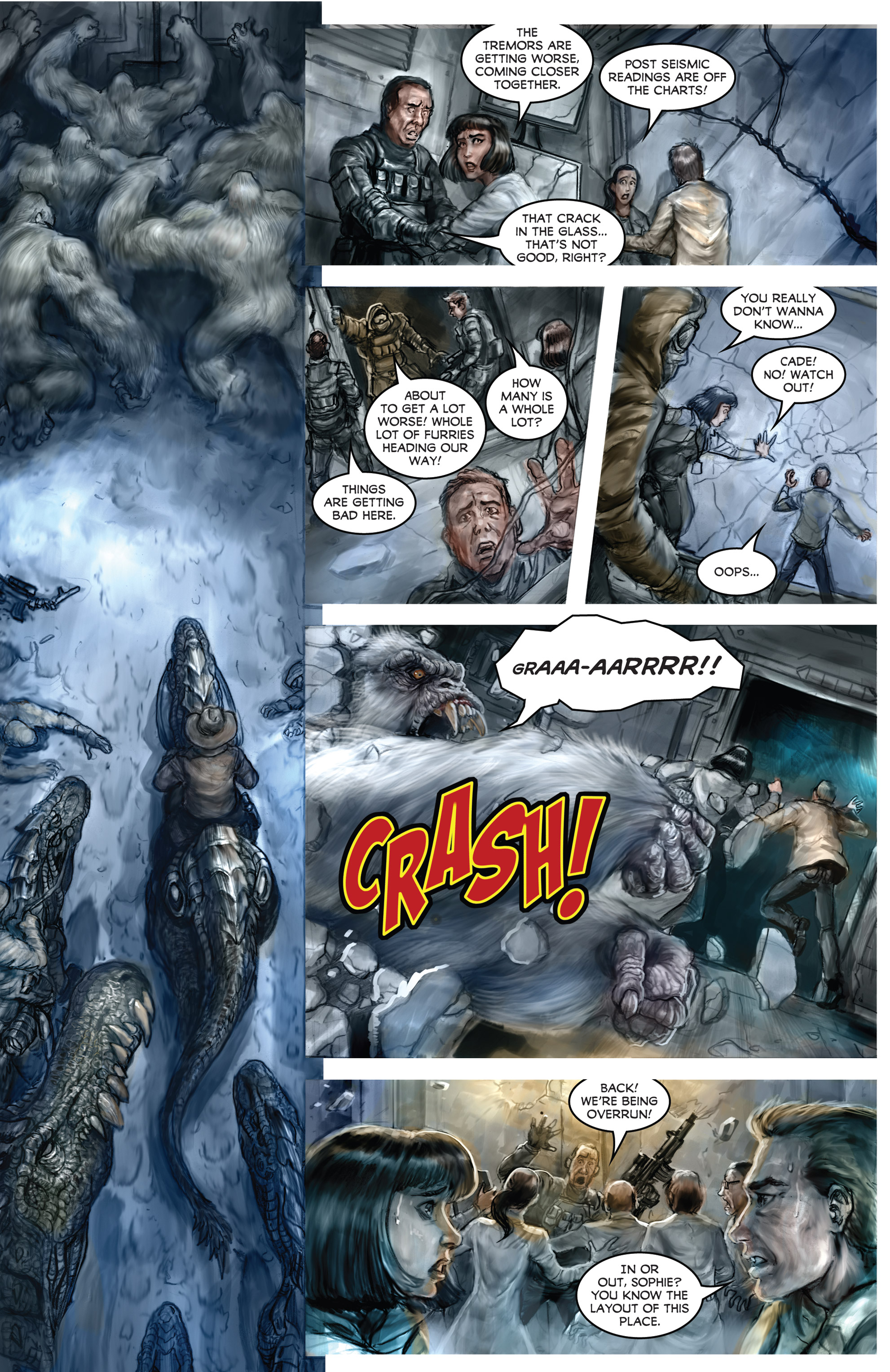 Read online American Mythology Dark: Werewolves vs Dinosaurs comic -  Issue #2 - 18