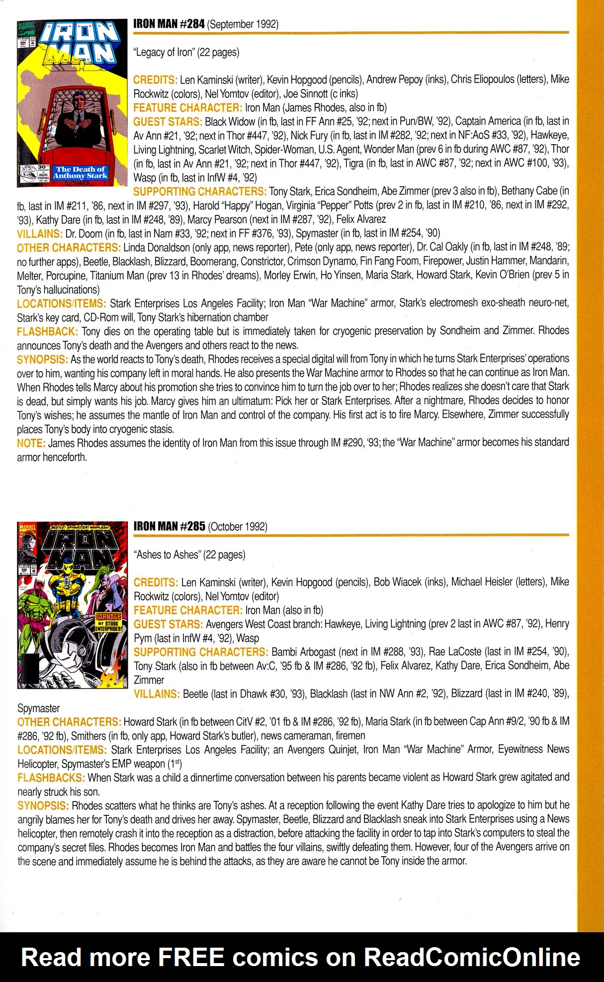Read online Official Index to the Marvel Universe comic -  Issue #8 - 39