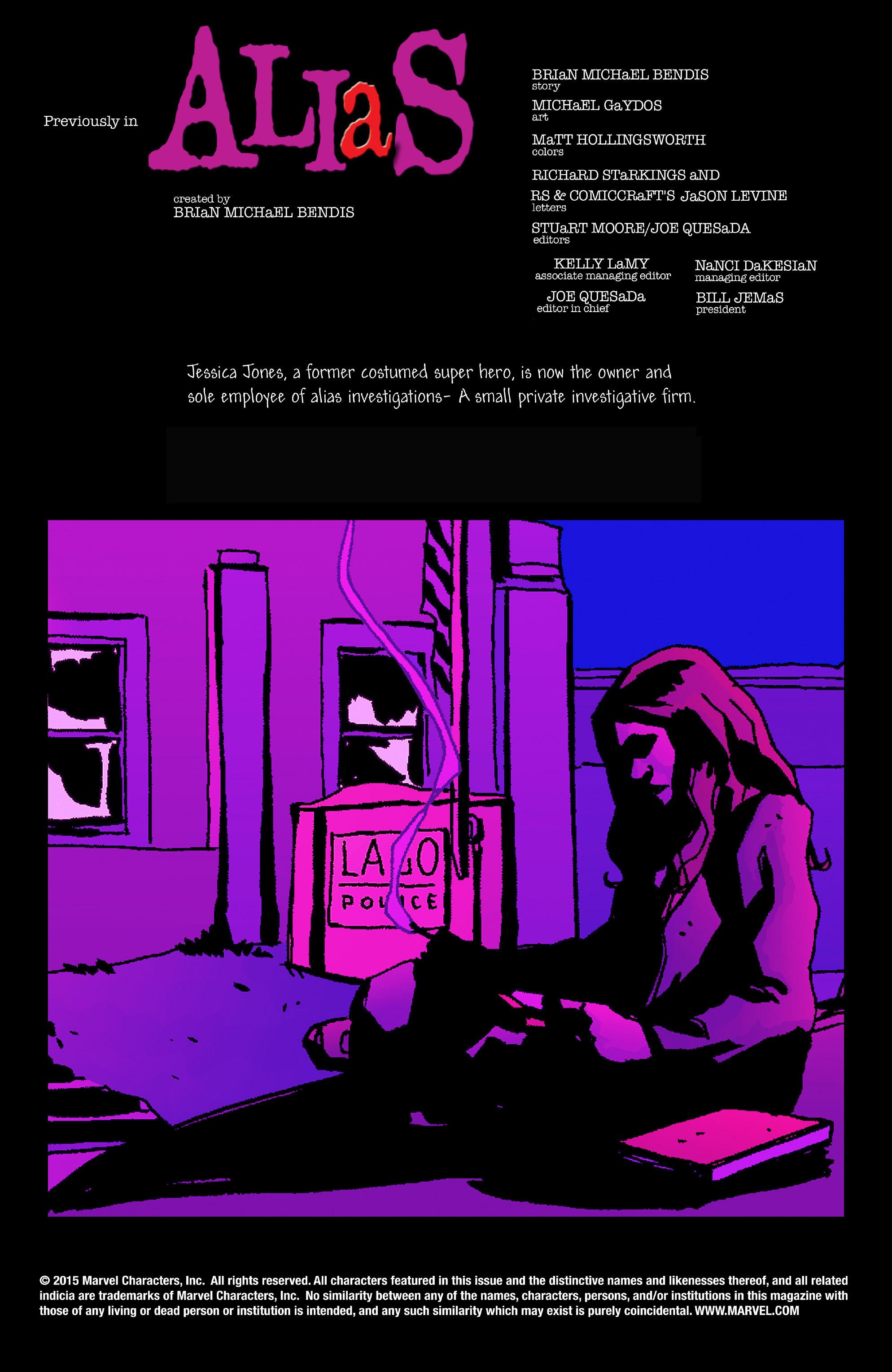 Read online Alias comic -  Issue #14 - 2