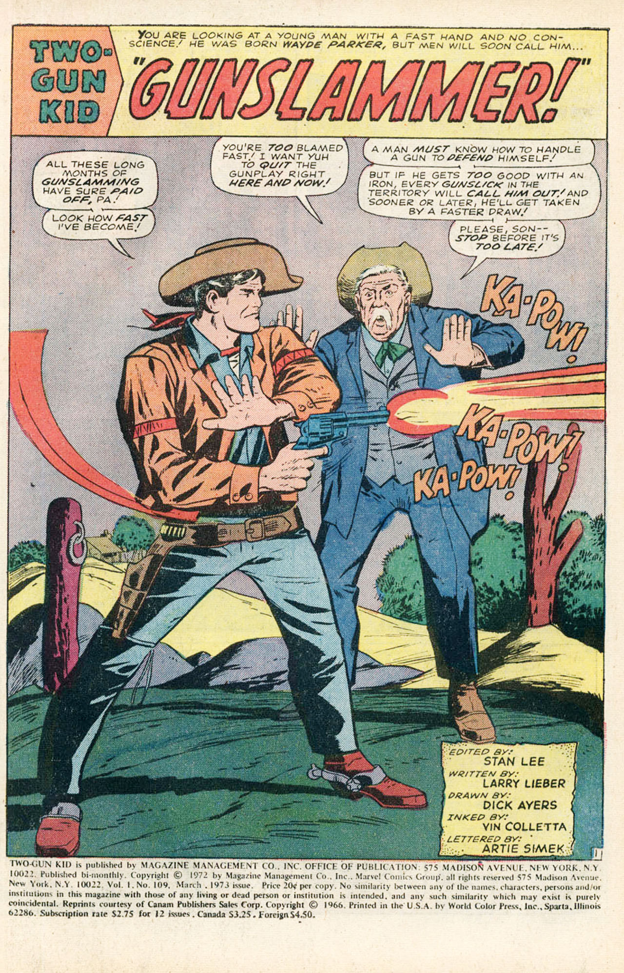 Read online Two-Gun Kid comic -  Issue #109 - 3