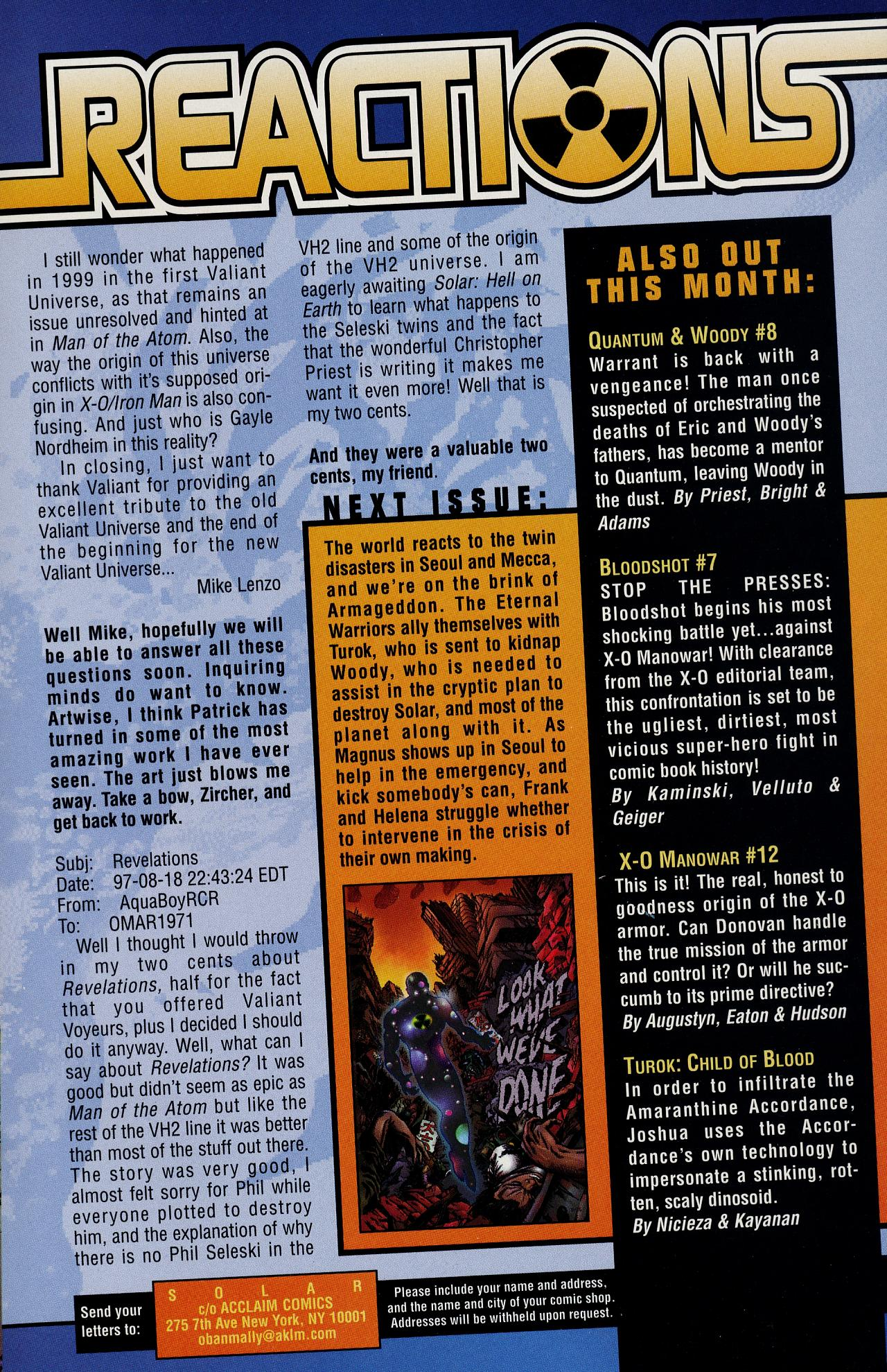Read online Solar, Man of the Atom: Hell on Earth comic -  Issue #1 - 26